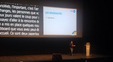 Début de la conférence Paris Web 2015