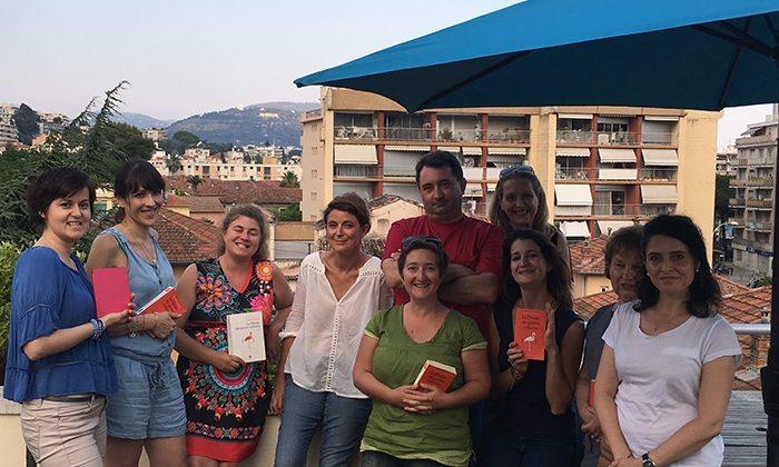 Yannick Grannek en compagnie des membres du Club de Lecture Chapitre Onze à nice