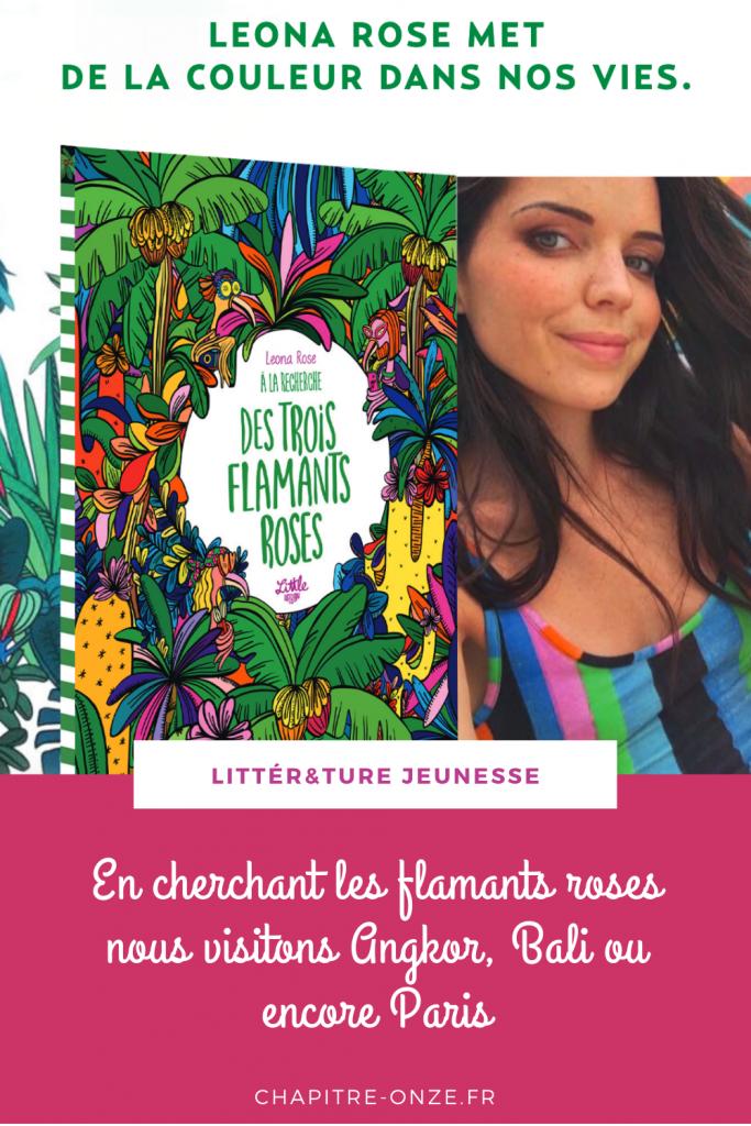 Leona Rose, A la recherche des trois flamants roses, livre cherche et trouve